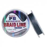 Шнур Kaida Braid Line Strong (Gray, 110m)