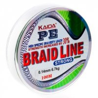 Шнур Kaida Braid Line Strong (Green, 100m)